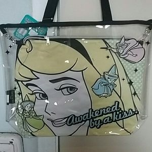 Disney Sleeping Beauty clear beach tote